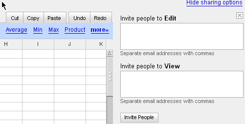 google spreadsheet invite